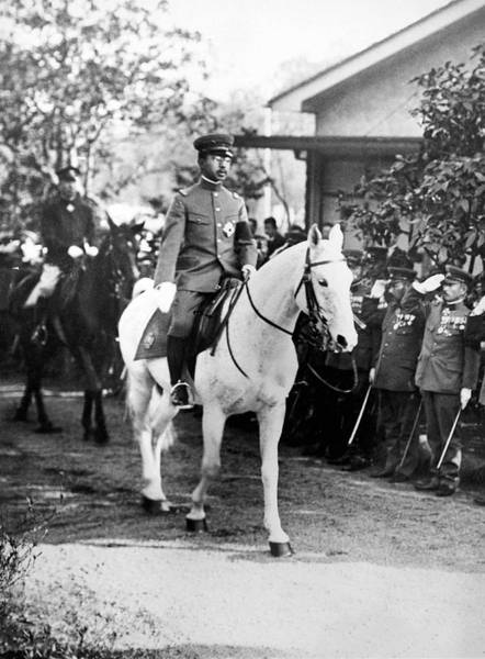 Photograph - The Emperor Hirohito Of Japan by Underwood Archives
