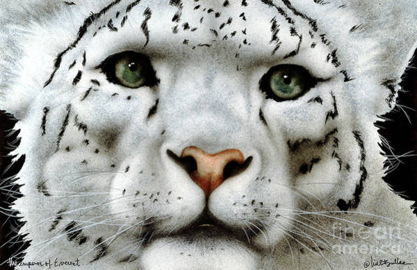Snow Leopard Wall Art - Painting - The Emperor Of Everest... by Will Bullas