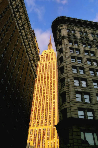 Photograph - The Empire State Building From Herald Square by Joann Vitali