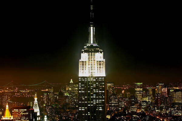 Empire State Building Digital Art - The Empire State Building by Linda Unger