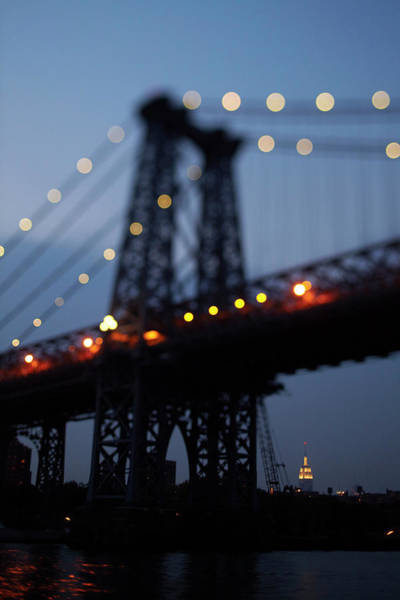 Williamsburg Bridge Photograph - The Empire State Building Sits by Todd Korol