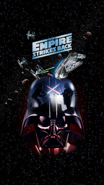 Wing Back Wall Art - Digital Art - The Empire Strikes Back Phone Case by Edward Draganski