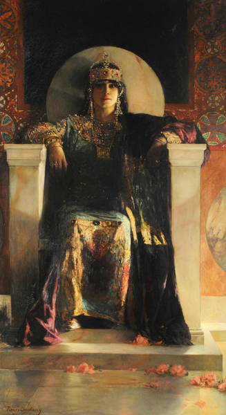 Wall Art - Painting - The Empress Theodora by Jean-Joseph Benjamin-Constant