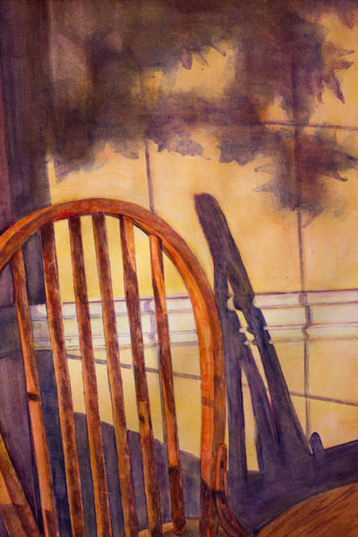 Missing Painting - The Empty Chair by Janet Felts