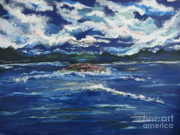 Pikes Peak Painting - The Enchanting Sea  by Lori  Lovetere