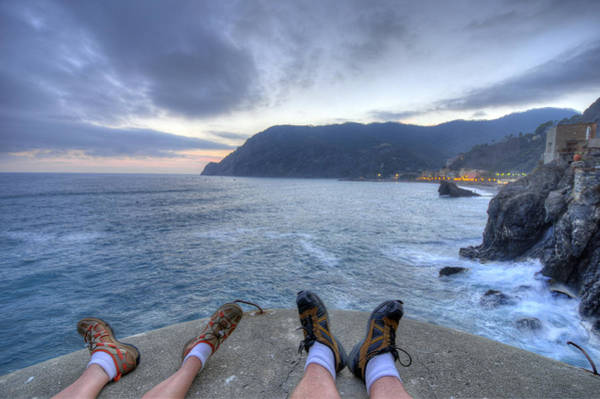 Photograph - The End Of The Day In Monterosso by Matt Swinden