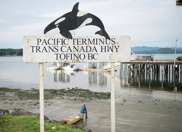 Tofino Wall Art - Photograph - The End Of The Trans Canada Highway by Alasdair Turner
