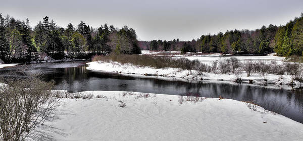 End Of The Trail Photograph - The End Of Winter On The Moose River by David Patterson