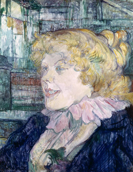 Blonde Photograph - The English Girl From The Star At Le Havre, 1899 Oil On Panel by Henri de Toulouse-Lautrec