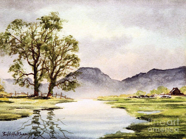 World Heritage Site Painting - The English Lake District by Bill Holkham