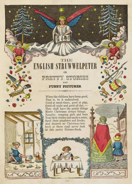 Wall Art - Drawing - 'the English Struwwelpeter, Or Pretty by Mary Evans Picture Library