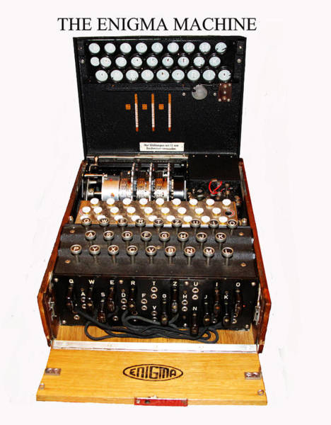 Vintage Conway Photograph - The Enigma Machine by Tom Conway