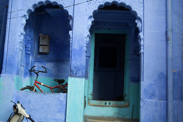 Wall Art - Photograph - The Entrance To A Home In Jodhpurs Blue by Steve Winter