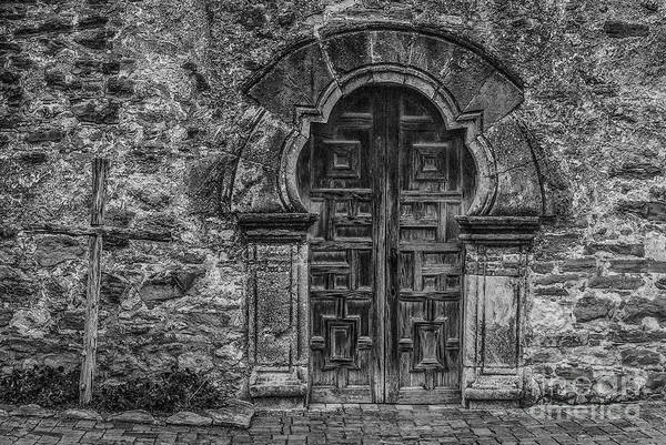 San-antonio Photograph - The Mission Door by Paul Quinn