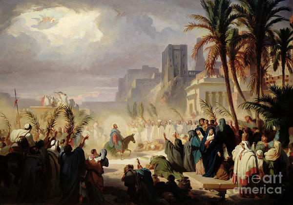 Sunday Painting - The Entry Of Christ Into Jerusalem by Louis Felix Leullier