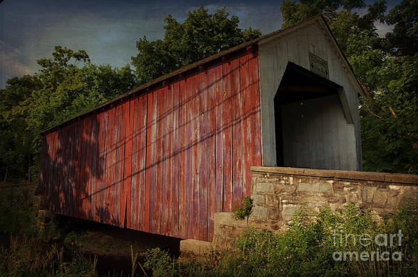 Photograph - The Erwinna Covered Bridge by Debra Fedchin