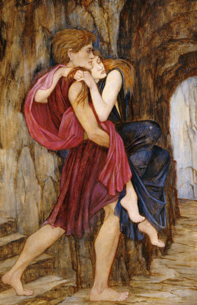 Pre-raphaelite Painting - The Escape by John Roddam Spencer Stanhope