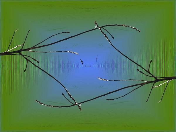 Marsh Bird Digital Art - The Estuary Waterway by Tim Allen