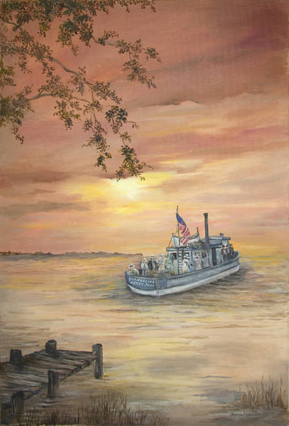 Northwest Florida Painting - The Evangeline by Deanna Sue Dyess