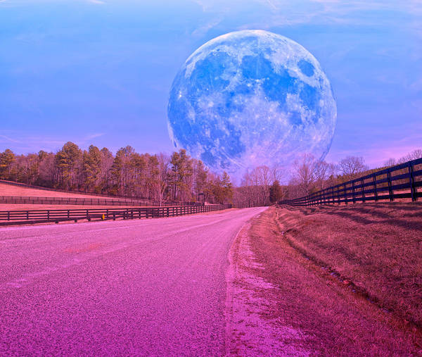 Super Moon Photograph - The Evening Begins by Betsy Knapp