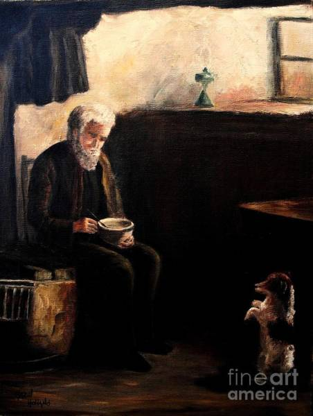 Wall Art - Painting - The Evening Meal by Hazel Holland