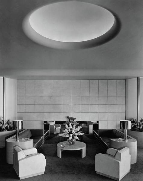 Mirror Photograph - The Executive Lounge At The Ford Exposition by Robert M. Damora