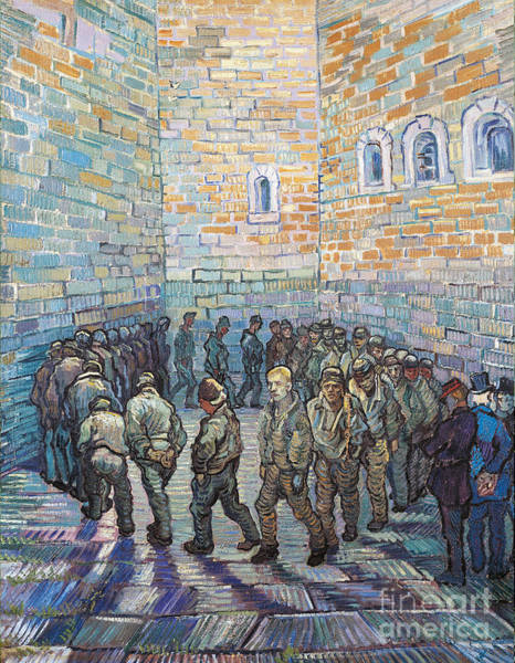 Van Gogh Wall Art - Painting - The Exercise Yard by Vincent Van Gogh