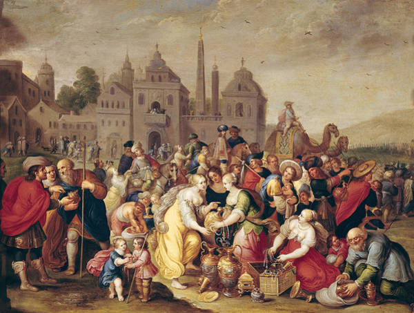 Procession Photograph - The Exodus Or The Vases Of The Egyptians Oil On Canvas by Frans II the Younger Francken