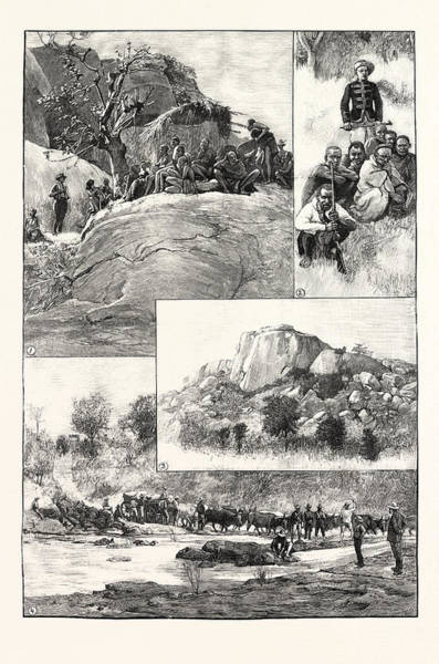 Wall Art - Drawing - The Expedition To Mashonaland 1. Banyai Fugitives by South African School