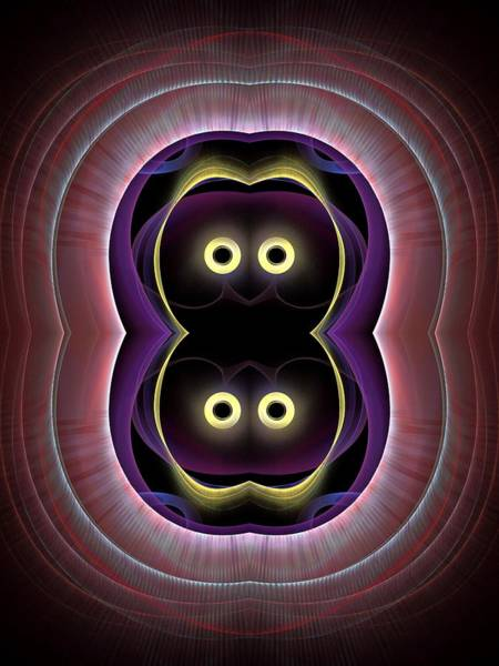 Dive Bar Digital Art - The-eyes-have-it-1-panel-left-or-right-2bb by Bill Campitelle