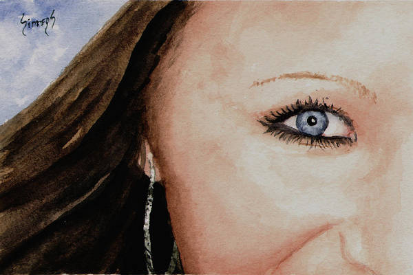 Painting - The Eyes Have It - Mckayla by Sam Sidders