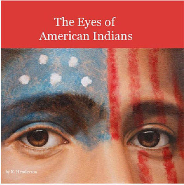 Wall Art - Painting - The Eyes Of American Indians By K Henderson by K Henderson