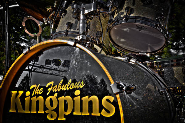 Photograph - The Fabulous Kingpins Drums by David Patterson