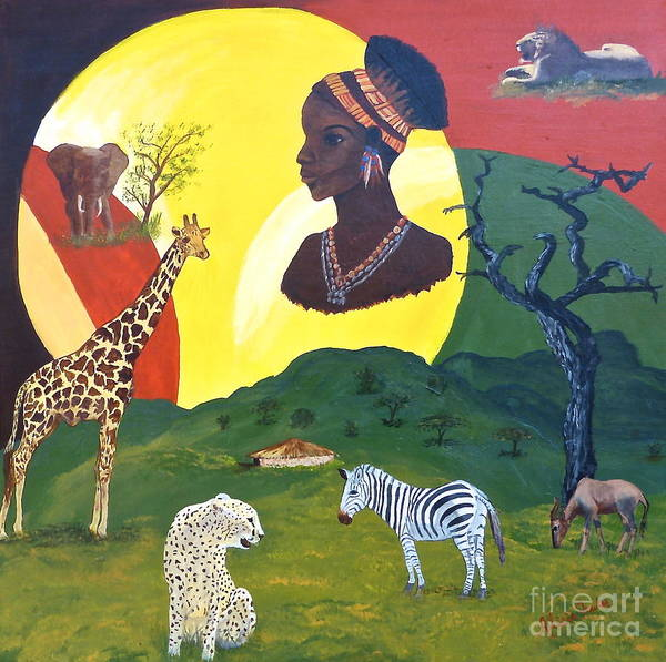 Painting - The Faces Of Africa by Alicia Fowler