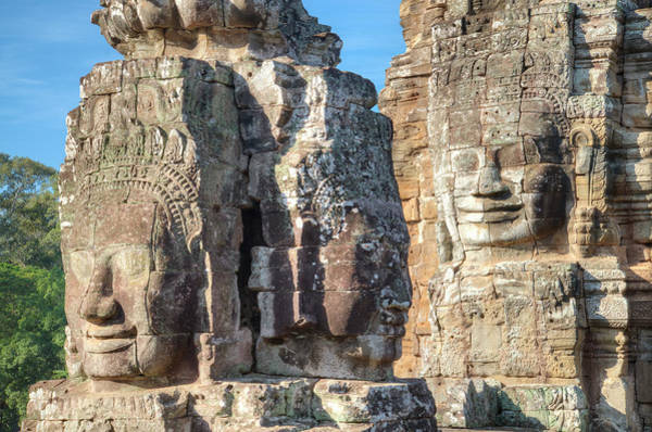 Cambodian Photograph - The Faces Of Ancient Khmer by Thant Zaw Wai