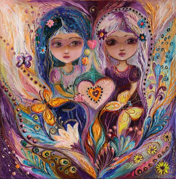 Wall Art - Painting - The Fairies Of Zodiac Series - Gemini by Elena Kotliarker