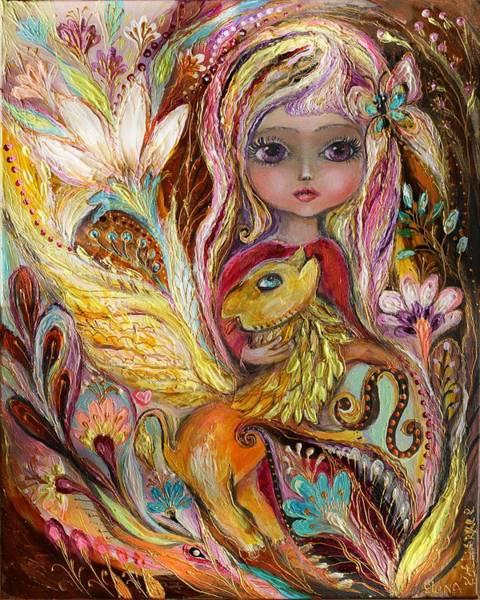 Wall Art - Painting - The Fairies Of Zodiac Series - Leo by Elena Kotliarker