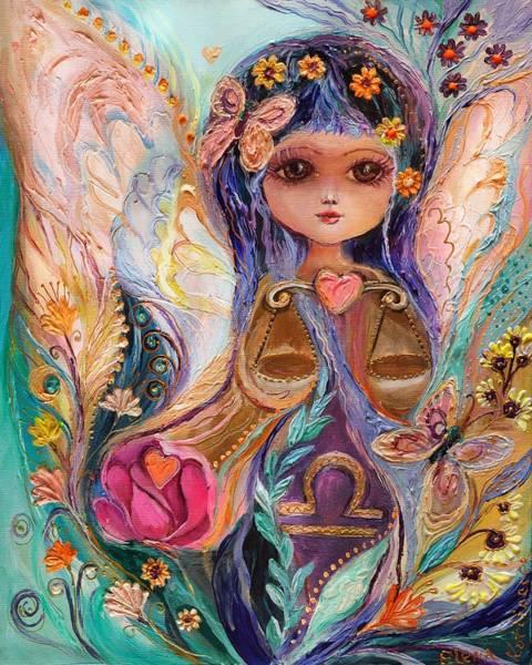 Wall Art - Painting - The Fairies Of Zodiac Series - Libra by Elena Kotliarker