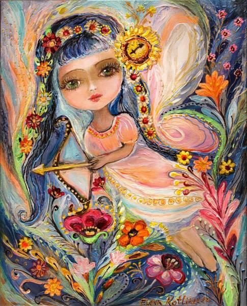 Wall Art - Painting - The Fairies Of Zodiac Series - Sagittarius by Elena Kotliarker