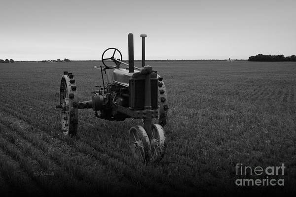 Photograph - The Faithful Old Tractor by E B Schmidt