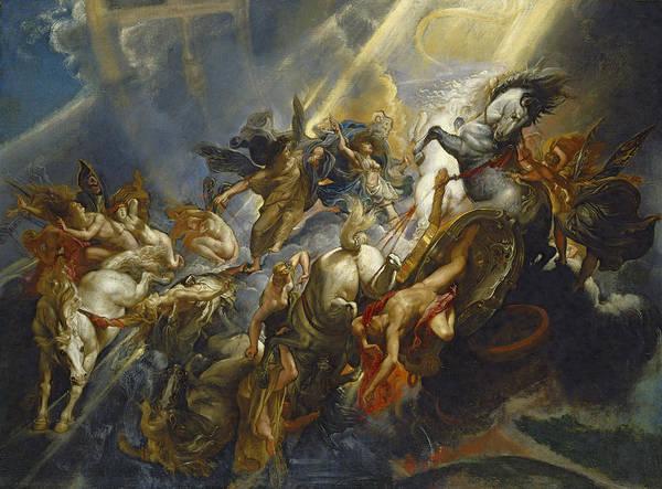 Man Of God Wall Art - Painting - The Fall Of Phaeton by  Peter Paul Rubens