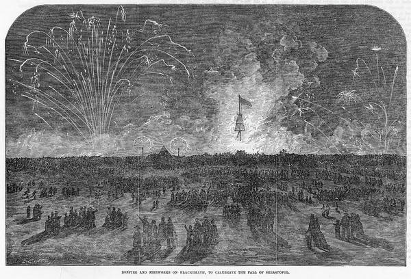 Fireworks Drawing - The Fall Of Sebastopol Is  Celebrated by  Illustrated London News Ltd/Mar
