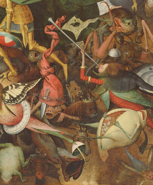 Northern Renaissance Wall Art - Photograph - The Fall Of The Rebel Angels, 1562 Oil On Panel Detail Of 74037 by Pieter the Elder Bruegel