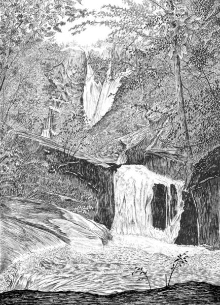 Drawing - The Falls II by Carl Genovese