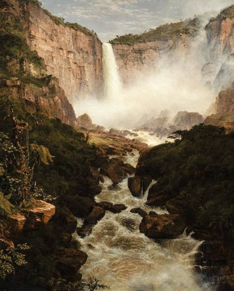 Colombian Wall Art - Painting - The Falls Of The Tequendama Near Bogota, New Granada by Frederic Edwin Church