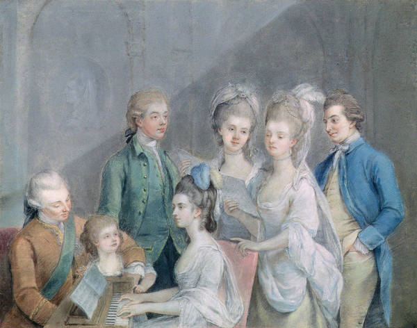 Conversation Photograph - The Family Of Charles Schaw, 9th Baron Cathcart 1721-76 Pastel On Paper by Johann Zoffany