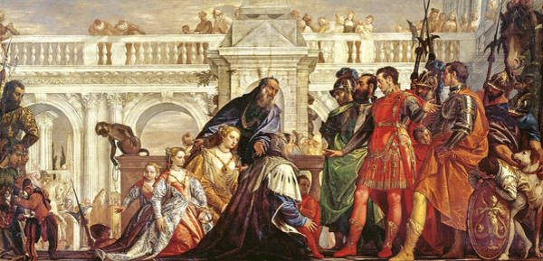 Emperor Photograph - The Family Of Darius Before Alexander The Great 356-323 Bc, 1565-67 by Veronese
