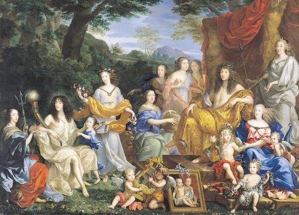 Mythological Photograph - The Family Of Louis Xiv 1638-1715 1670 Oil On Canvas For Details See 39054-39055 by Jean Nocret