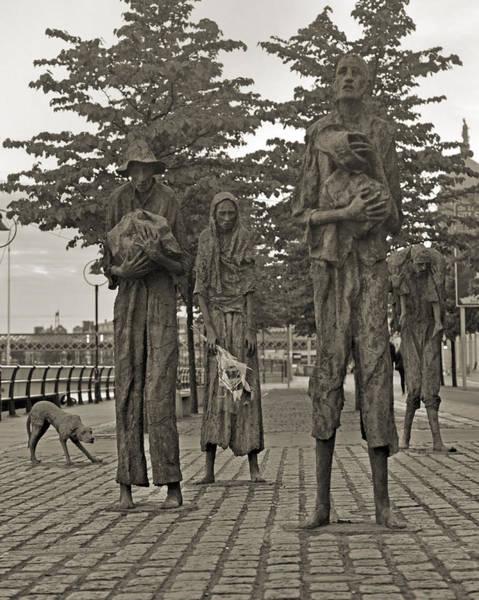 The Weather Photograph - The Famine Dublin Ireland by Betsy Knapp