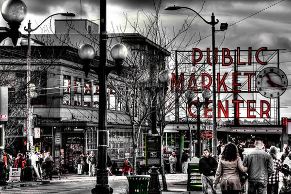 Pikes Place Wall Art - Photograph - The Famous Pike Place Market - Seattle Washington by David Patterson